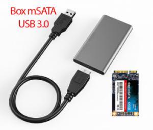 Box mSATA ra USB 3.0 biến SSD mSATA thành ổ cứng di động