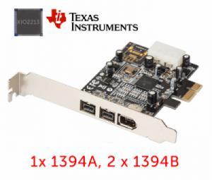 Card mở rộng PCI-E to 1394A, 2 x 1394B Chip TI XIO2213