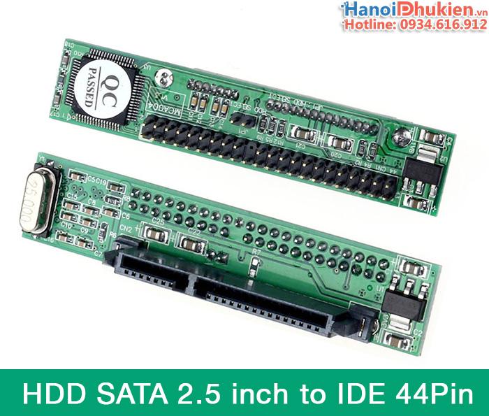 Card chuyển đổi HDD SATA 2.5 sang IDE 44 Pin
