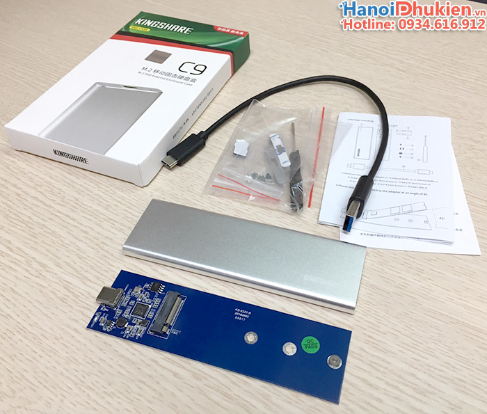 Box SSD M2 SATA to Type C Kinghshare C9
