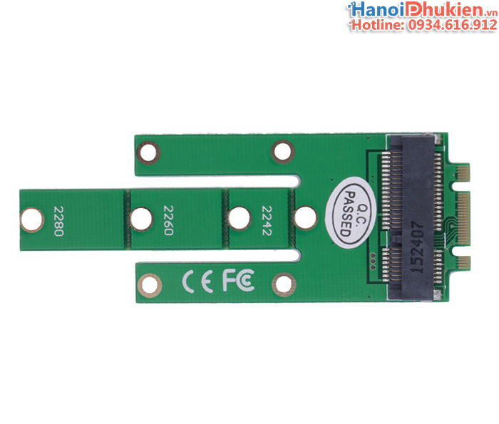 Adapter SSD mSATA to M2 SATA 2280