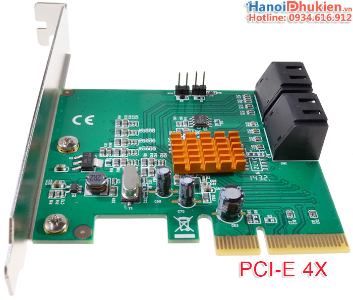 Card mở rộng PCI-e 4X ra 4 SATA 3 (6Gb) Syba FG-EST17A, hỗ trợ RAID