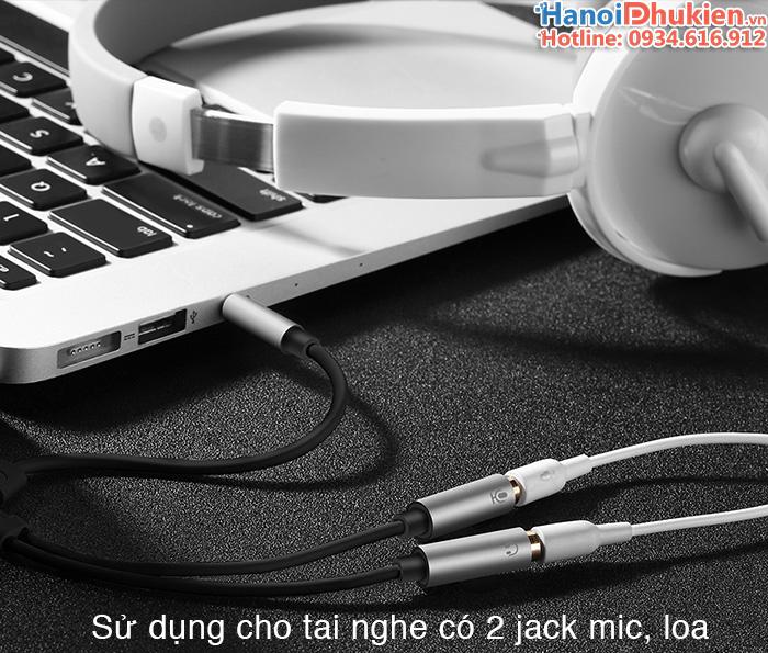 Cáp chia jack 3.5mm ra mic và loa Ugreen 10789