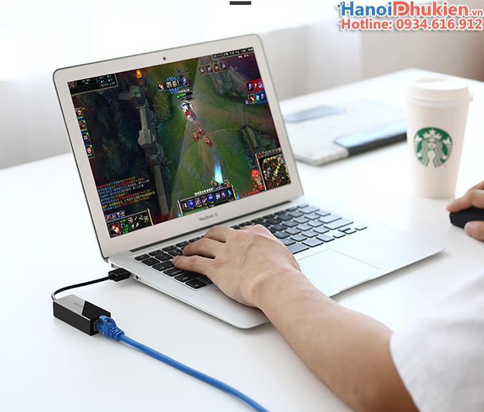 Cáp chuyển đổi Macbook Air 11, 13 ra cổng mạng LAN, Ethernet chính hãng