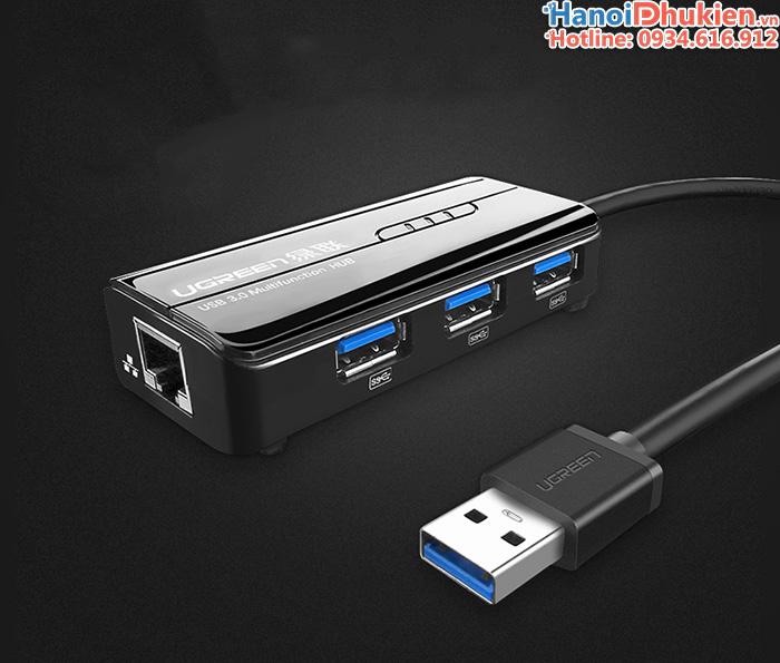 Bộ chia USB 3.0+LAN 100/1000 Gigabit Ugreen 20265 chính hãng