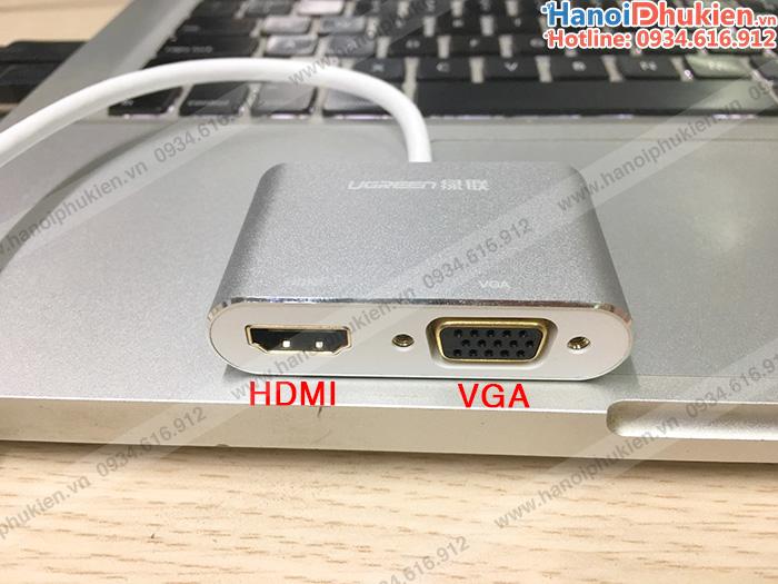 Adapter chuyển đổi Thunderbolt sang HDMI/VGA vỏ nhôm cao cấp
