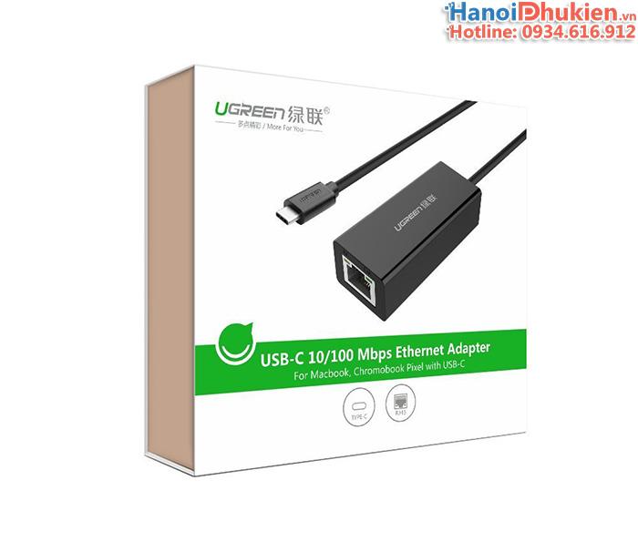 Cáp chuyển đổi cổng USB-C sang mạng LAN cho new Macbook 12, 13, 15