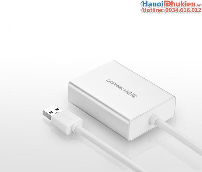 Cáp USB 3.0 sang HDMI DVI Ugreen 40229 hỗ trợ HD1080