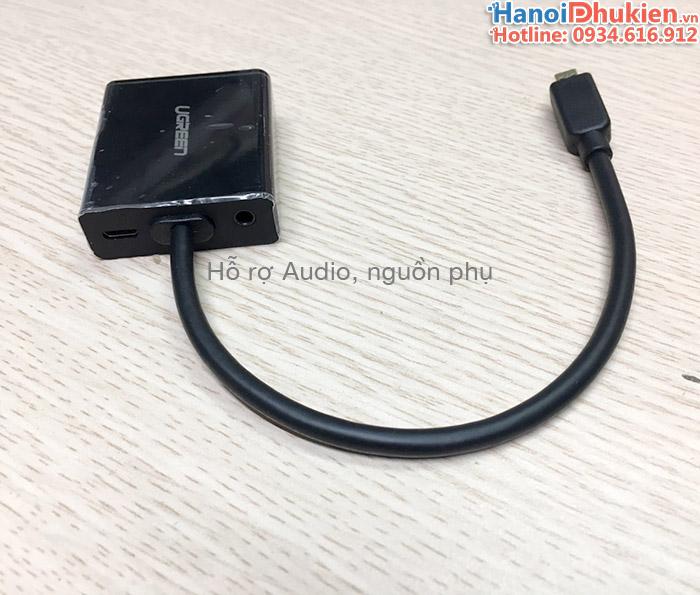 Cáp chuyển đổi Micro HDMI sang VGA và Audio Ugreen 40268 chính hãng