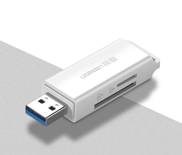 Đầu đọc thẻ nhớ SD, TF USB 3.0 Ugreen 40751 chính hãng