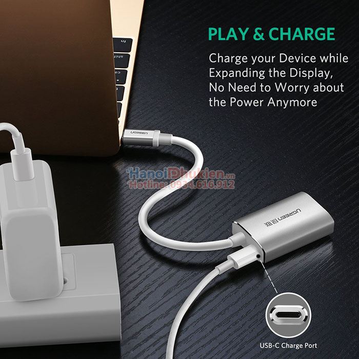 Cáp chuyển đổi USB-C sang Mini Displayport