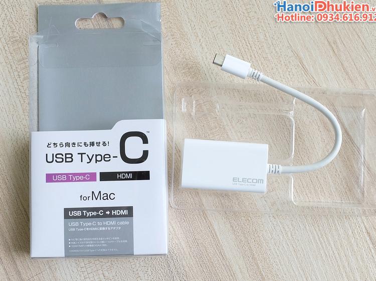 Dây cáp chuyển đổi USB-C Thunderbolt 3 sang HDMI 4K hãng Elecom
