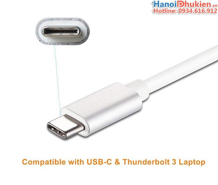 Cáp USB-C (thunderboolt 3) sang VGA Adapter