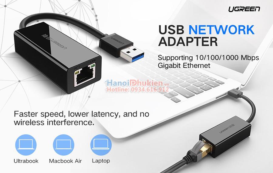 Cáp kết nối Macbook Air ra cổng mạng LAN Ethernet chính hãng