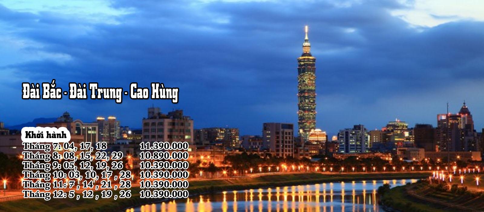 Đài Bắc - Đài Trung - Cao Hùng