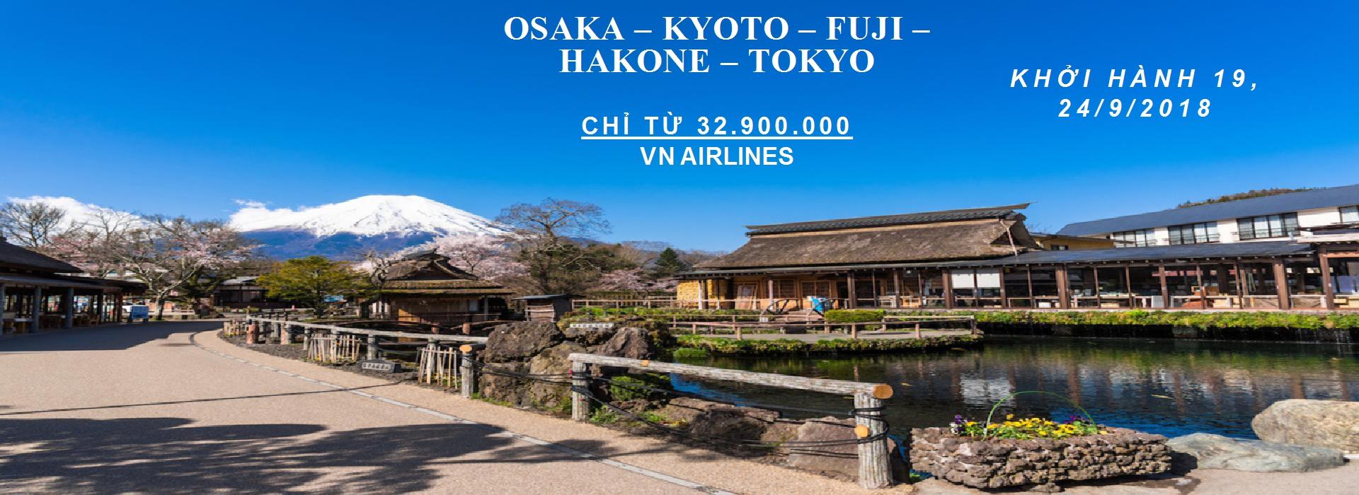 OSAKA – KYOTO – FUJI – HAKONE – TOKYO