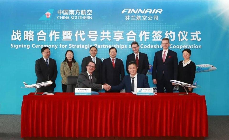China Southern Airlines triển khai hợp tác Codeshare với FinnAir