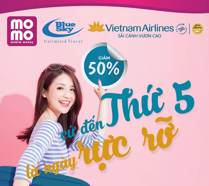Thứ 5 săn vé, giá rẻ đến 50% cùng Vietnam Airlines