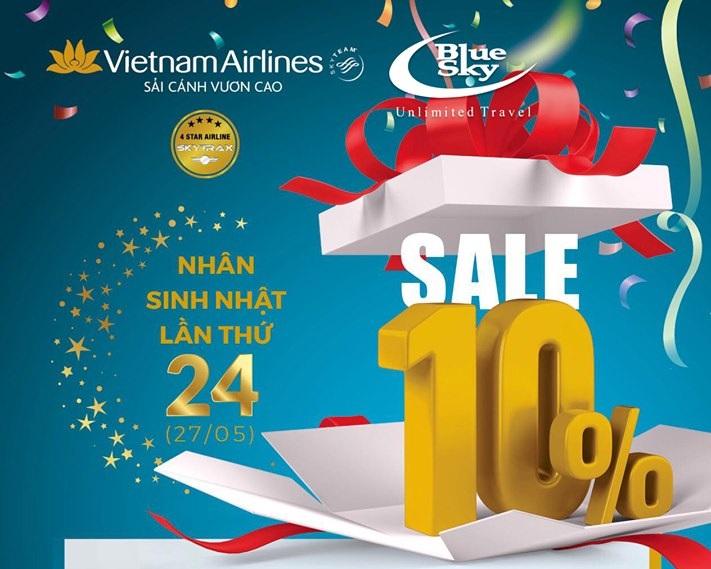 Mừng sinh nhật vàng, Vietnam Airlines tặng ngàn ưu đãi
