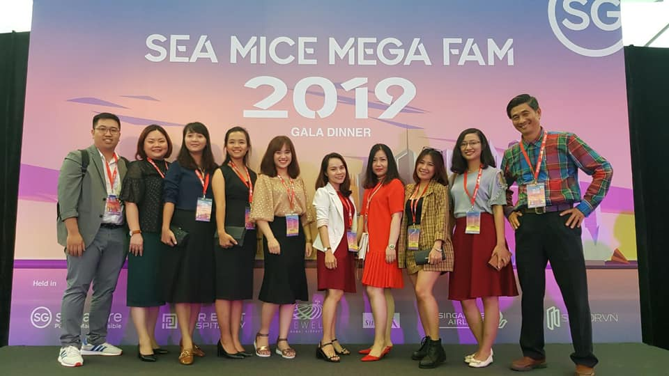 Đại diện Blue Sky tham dự sự kiện SEA MICE MEGAFAM tại Singapore