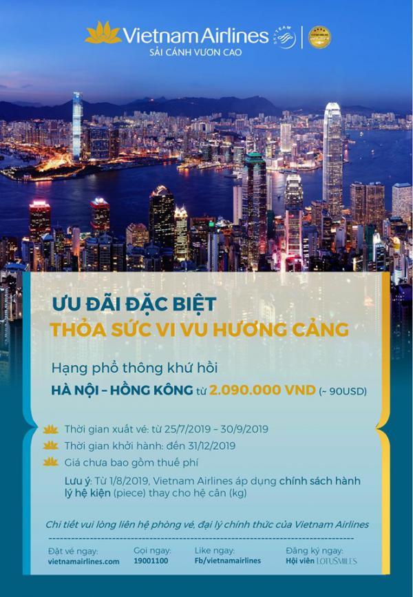 Ưu đãi đặc biệt cho hành trình cho hành trình đến Hong Kong