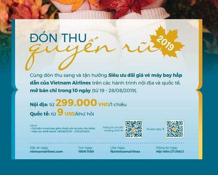"""Đón thu quyến rũ - """"săn"""" khuyến mại khủng cùng Vietnam Airlines"""