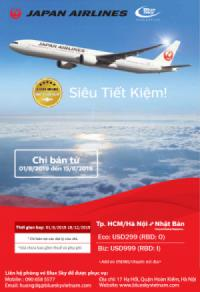 Bay cùng Japan Airlines, hưởng ngay ưu đãi đặc biệt