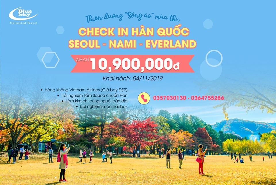 Cơ hội CUỐI CÙNG trong năm - Vi vu Hàn Quốc chỉ với 10,9 triệu đồng