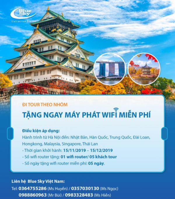 Đi tour theo nhóm - Nhận máy phát WiFi miễn phí