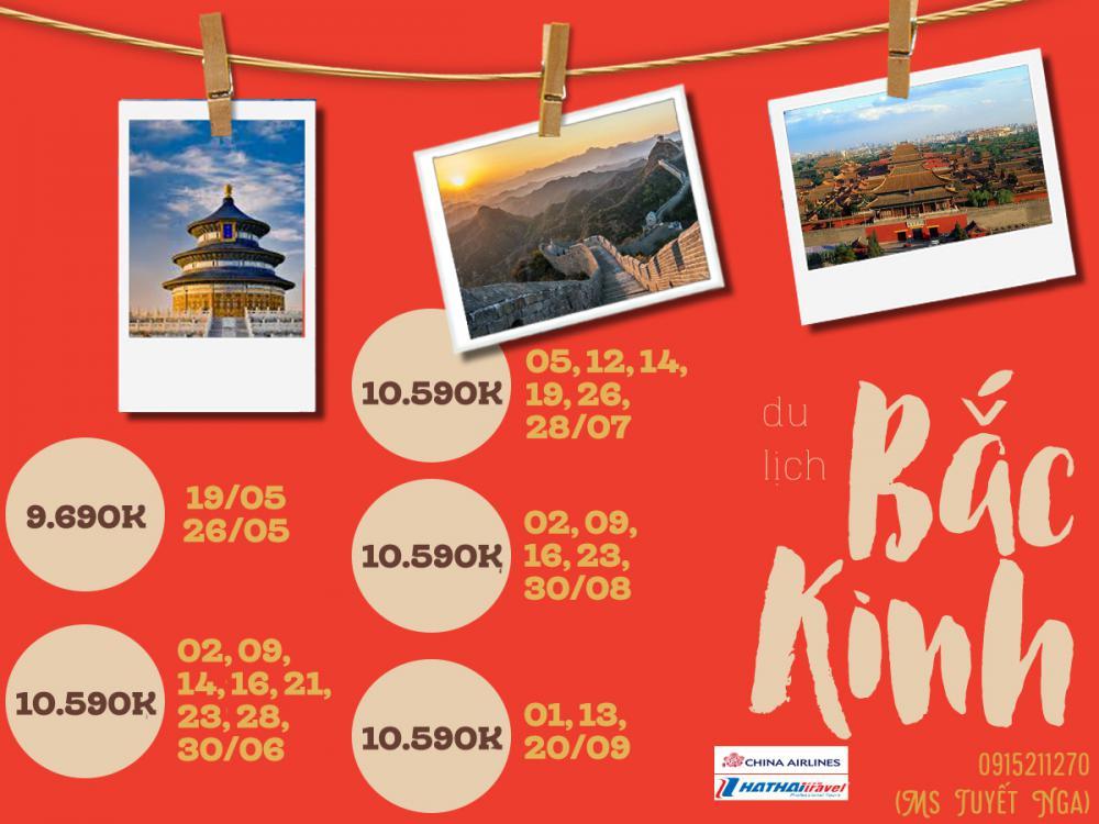 HÀ NỘI - BẮC KINH - HÀ NỘI ( 5N4Đ Bay Air china - Hè 2019)