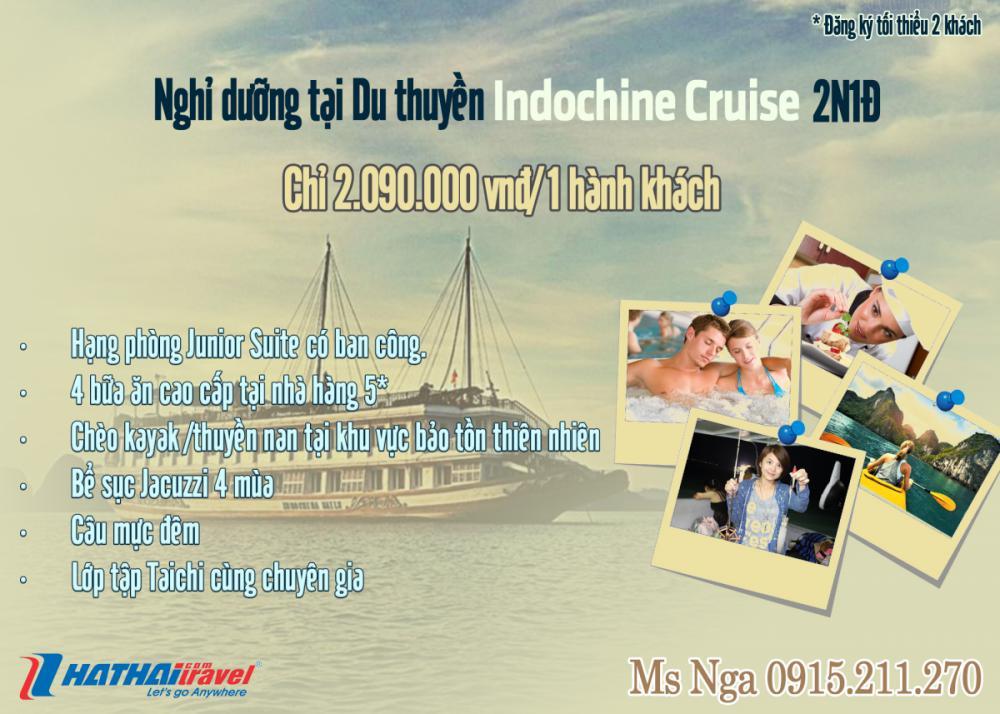 Du thuyền 5* Indochina Cruise - vịnh Hạ Long