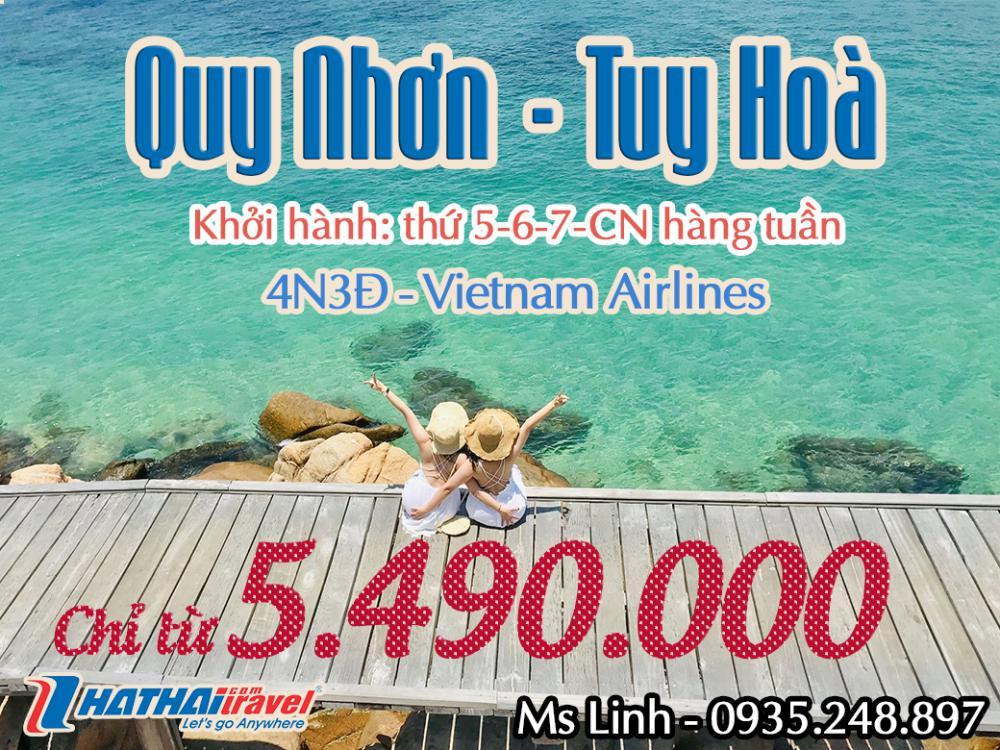 QUY NHƠN – TUY HÒA 4N3Đ Bay Vietnam Airlines