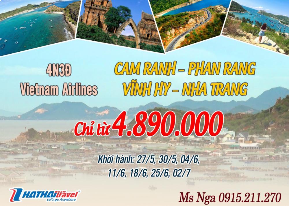 CAM RANH – PHAN RANG – VĨNH HY – NHA TRANG 4N3D bay Vietnam Airlines