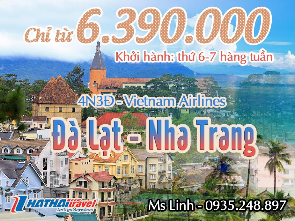 ĐÀ LẠT – NHA TRANG 4n3đ Bay Vietnam Airlines
