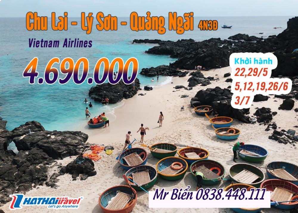 CHU LAI – LÝ SƠN – QUẢNG NGÃI 4N3Đ bay Vietnam Airlines
