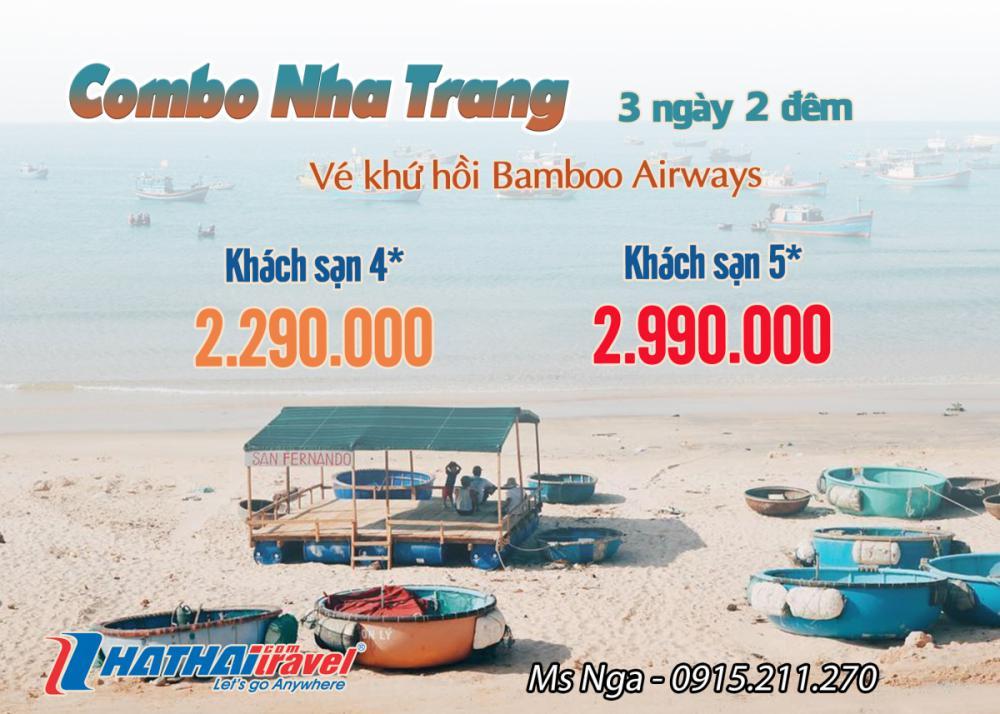 Combo Nha Trang + vé khứ hồi Bamboo Airways 3N2Đ