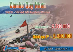 Combo Quy Nhơn + vé khứ hồi Bamboo Airways 3N2Đ