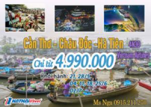 CẦN THƠ – CHÂU ĐỐC – HÀ TIÊN 3N4Đ bay Vietnam Airlines