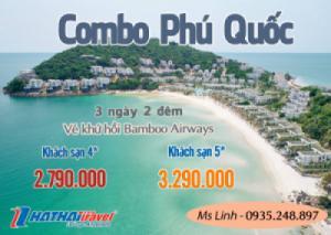 Combo Phú Quốc + vé khứ hồi Bamboo Airways 3N2Đ