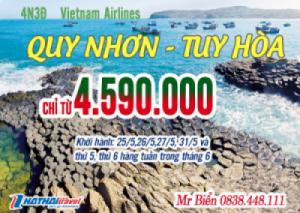 TUY HÒA – QUY NHƠN 4N3Đ bay Vietnam Airlines